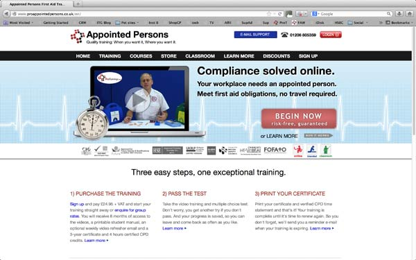 appointed persons online course image protrainings