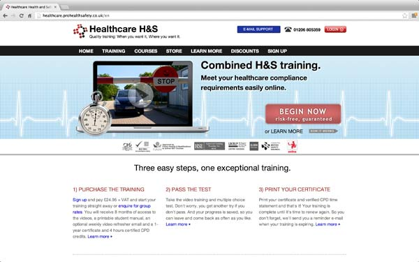 healthcare health and safety online course