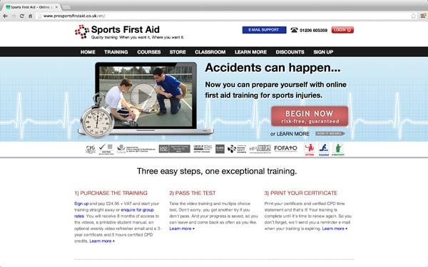 online sports first aid course